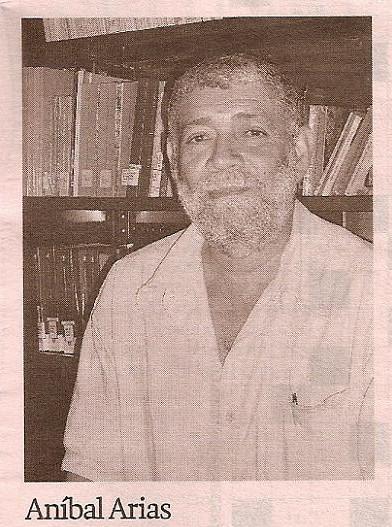 Aníbal Arias uno de los mejores poetas afrodescendientes de Colombia.