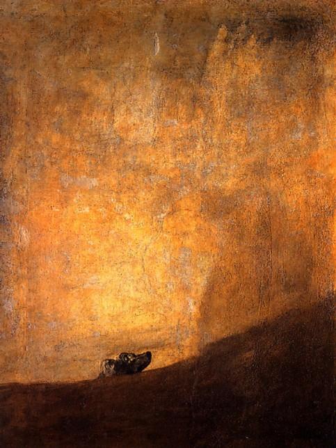 Francisco de Goya . Perro (1820 - 23)