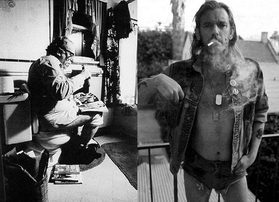 Eran dos tipos parecidos, merecían un encuentro y el azar lo propició en un bar nudista de Austin durante la gira promocional del Ace of Spades (1980).