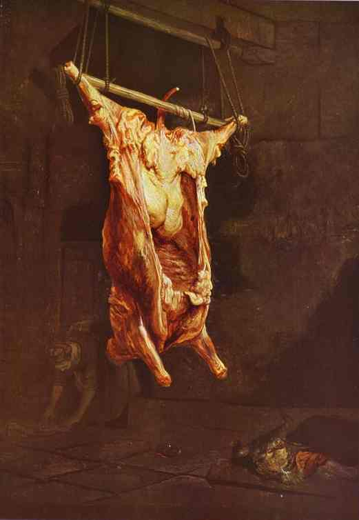 Rembrandt - Buey desollado (1643)