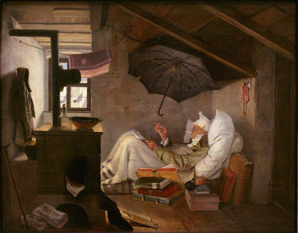 El poeta pobre por Carl Spitzweg