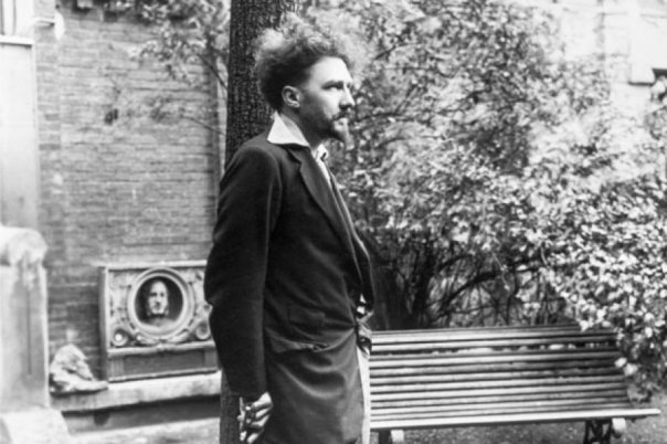 Ezra Pound in Paris in 1923 - two years before he moved to Italy