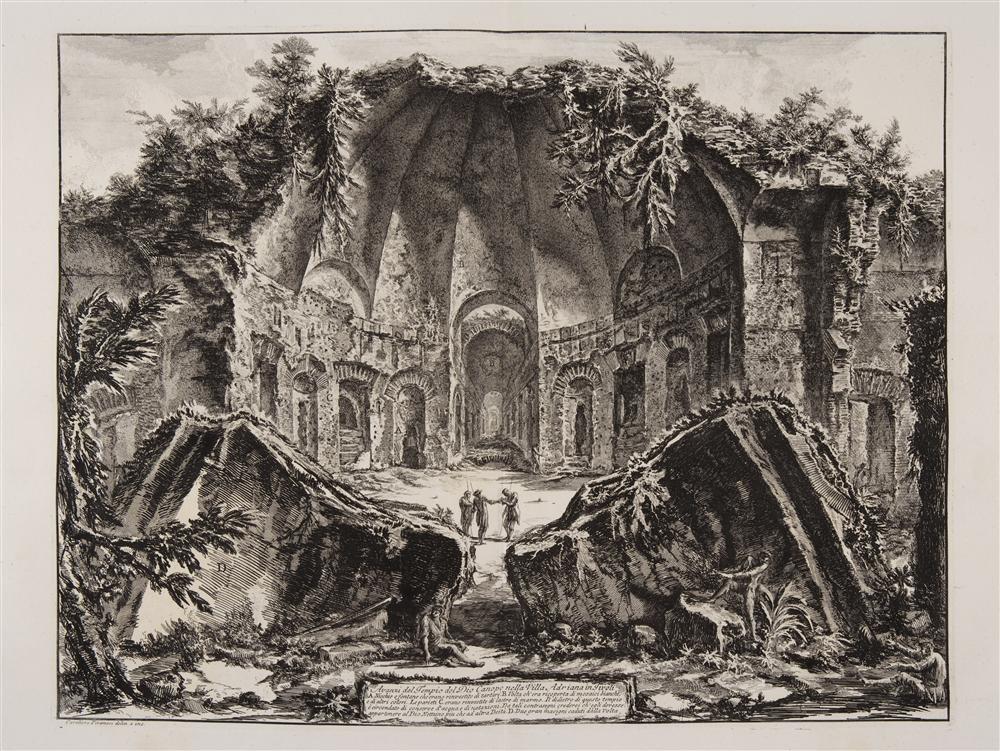 Restos del templo del dios Cánope en la Villa Adriana de Giambattista Piranesi